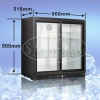 208L bar cooler hinged double door