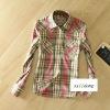 2012 100% cotton omen's plaid shirt