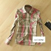 2012 100% cotton omen's plaid shirt