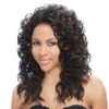 Pure Indian remy wigs in stocking 16'' deep wave highlight color cheap full lace wigs