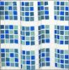 latest tartan design blue curtains