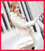 2012 women winter coats, white coat jackets