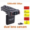 X1000 Car Camera DVR with Dual Lens Night Vision 270 degree Screen Rotate Auto-recording,Cycling Recording Motion Detection