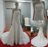 Hot Sale!!2012 High Quality Whole Body Lace Appliques Bridal Wedding Dresses