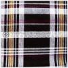 brown yellow checks printed flannel fabric for shirt