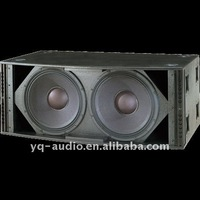 "dual 15"" high power subwoofer XLC-257 with vertical line and high power subwoofer system"