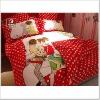 100% polyester brushed and printed bedding set 3pcs/4pcs