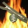 Flame retardant zipper