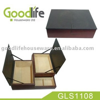 Tie storage boxes with soft leather