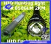 85W 8500LM Outside Powerfull 85W 2KM distance HID Hunting light HID flashlight