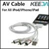 For iPod Audio Video Cable AV Cable