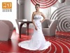2013 Newest! Strapless Satin Embroidered Wedding Dress with Beaded Detail NEW0001