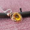 citrine silver 925 pendant