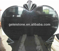 Polished heart shaped granite tomb stones