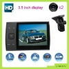 2012 New big screen 3.5 inch car dvr ! G-sensor HD 720p seperated & external lens car black box