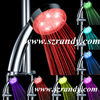 LD8008-A19 Modern Lights Color Changing Chrome Water Power LED Light Up Shower Head