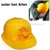 2012 NEW multi-color solar fan helmet for safety Gift