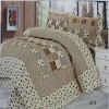 100 polyester fabric bedspread set