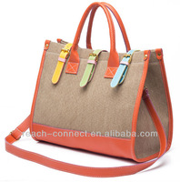 2013 elegant canvas ladies handbag
