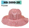 polyester ladies big brim hat