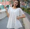 2012 Cute Lace White Chiffon Blouse