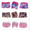 100% polyester printed surf shorts for women board short pants