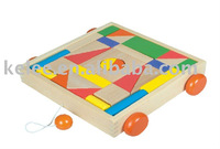wooden block car toy