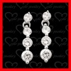 fashion jewelry manufacturer silver ball dangle earrings