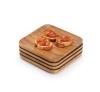 bamboo snack tray