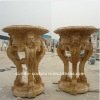 Hand carved marble flower pot