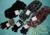 polyester scarf, hat, glove