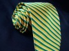 Yellow Stripe Woven Silk Necktie