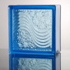 Sea Wave Blue color glass brick
