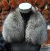 Silver blue fox collar