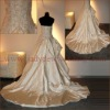 Hot Selling Embroided and Ruffled Bride dress HS010