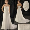 Strapless Chiffon  Wedding Dress  ZJ159