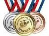 Custom gold silver copper metal winners medals