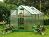 Single Door 10mm UV Twin-wall Small Polycarbonate Hobby Greenhouses 6' X 8'
