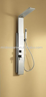 mirrored finish one-piece stainless steel shower panel