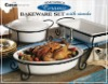 Daily ceramic 7pc bakeware set with wire rack 2-AL039/040/041