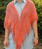 Ladies' shawl / Plain Dyed and Knitted Jacquard shawl