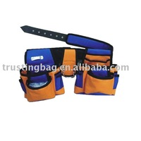 600D polyester yellow durable waist tool bag,multifunction fashion tool waist bag