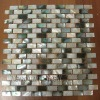 Black seashell mosaic-mixed with freshwater shell brick pattern
