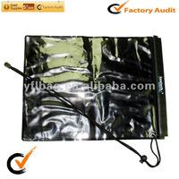 black waterproof map or wallet velcro pounch
