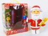 Talking Santa claus with ginger cat/toys action figures/Christmas toys