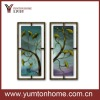 Hot sell Metal Ginkgo Wall Panel decoration set of 2