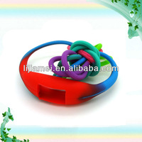 Colorful integrated silicone cheap watch band