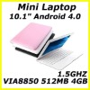 VIA8850 10.1 inch mini laptops