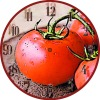 Decorative tomato wood clock