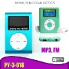 1.2inch display screen MP3 Player with FM